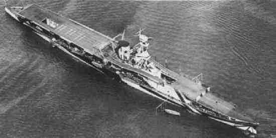 Aerial picture of HMS Furious
