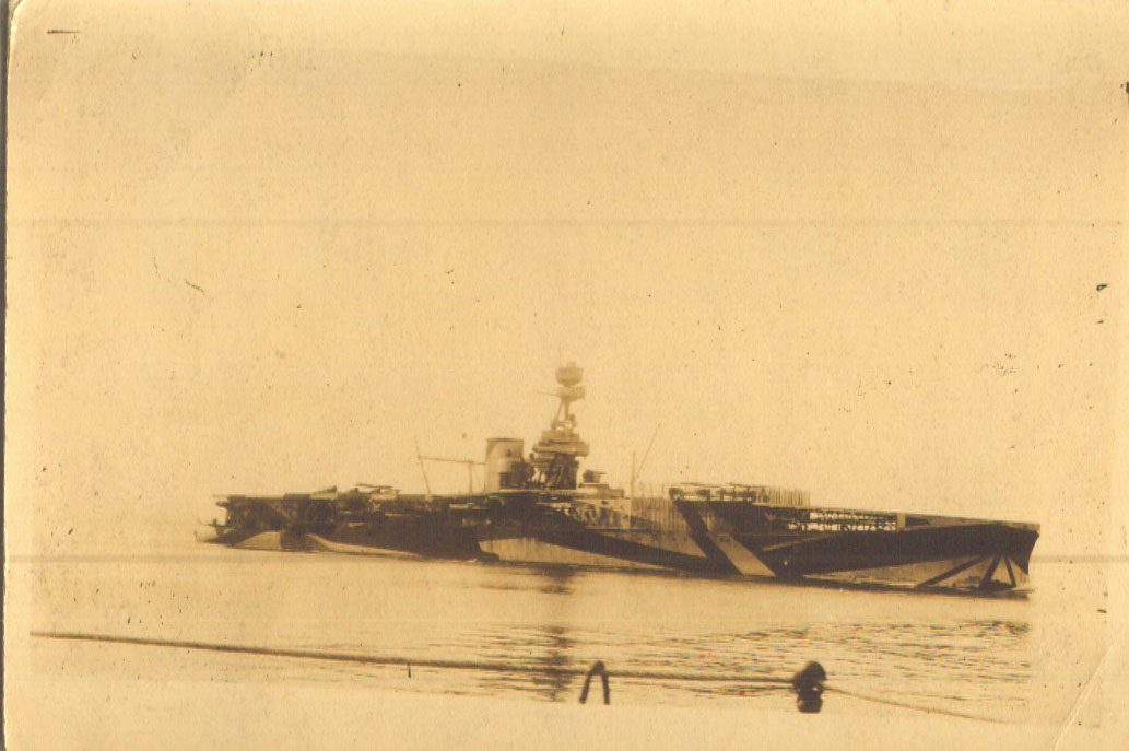 HMS Furious at anchor 1918